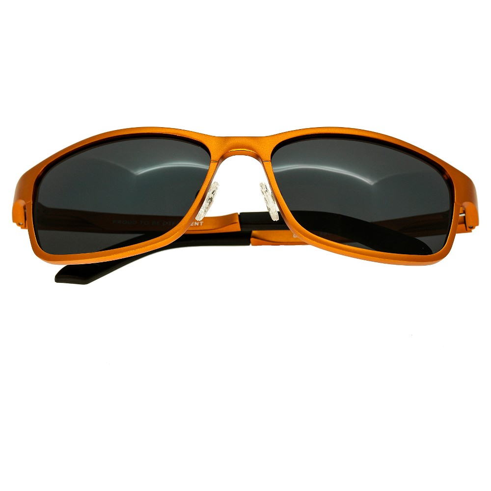 Breed Mens Hydra Polorized Sunglasses with Aluminum Frame and Arms - Orange/Black
