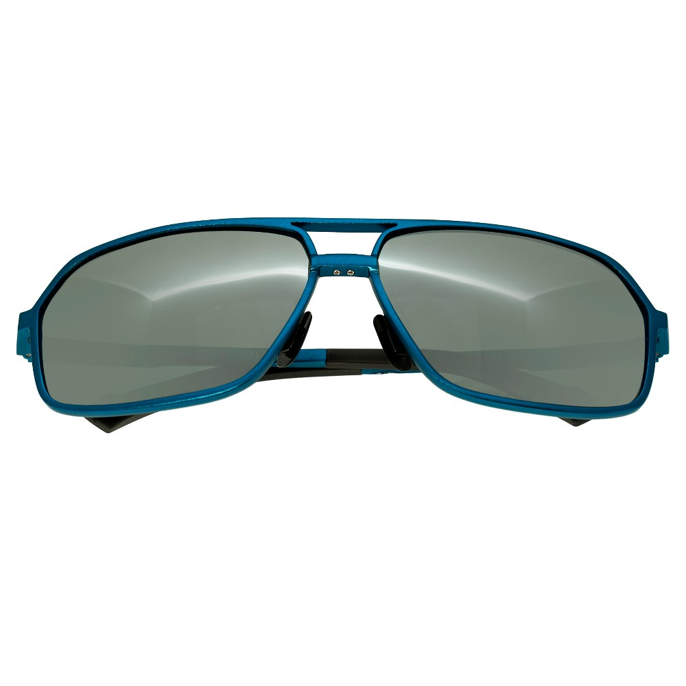 Breed Mens Fornax Polorized Sunglasses with Aluminum Frame and Arms - Blue/Silver