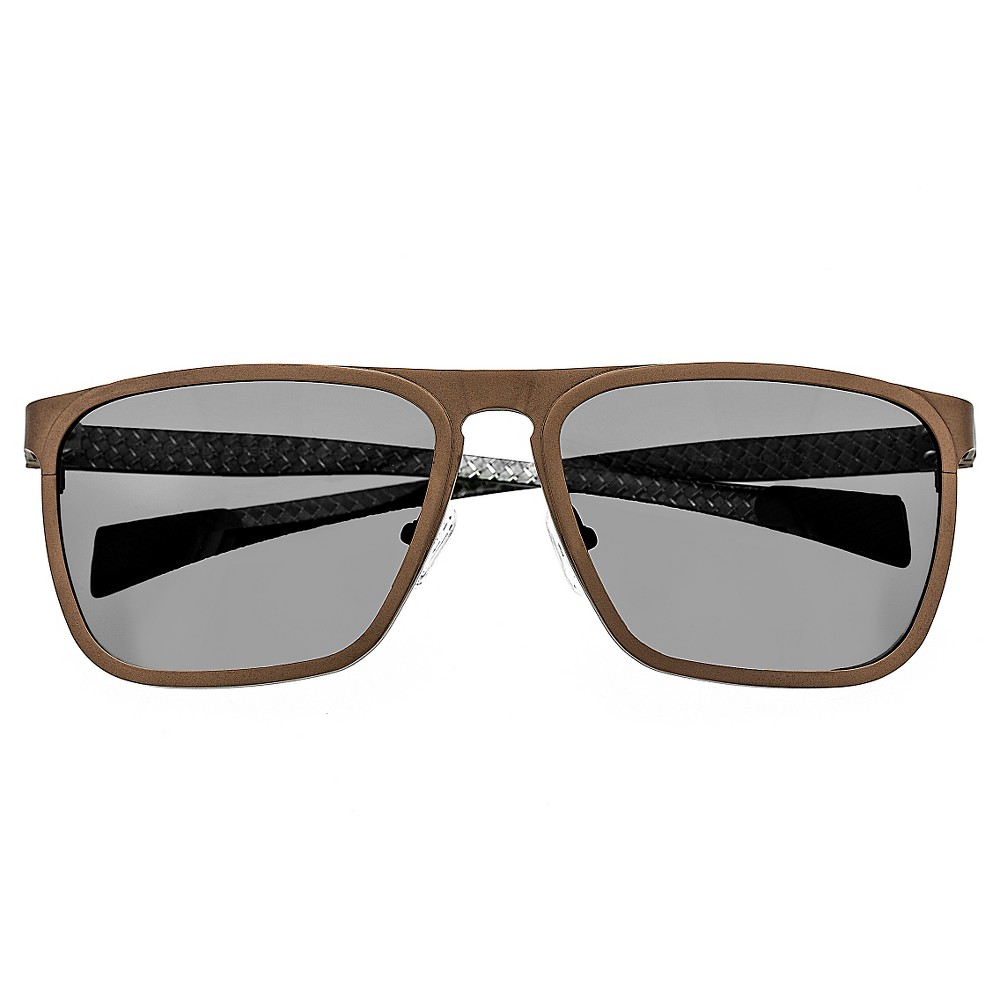 Breed Mens Capricorn Polorized Sunglasses with Titanium Frame and Carbon Fiber Arms - Brown/Black