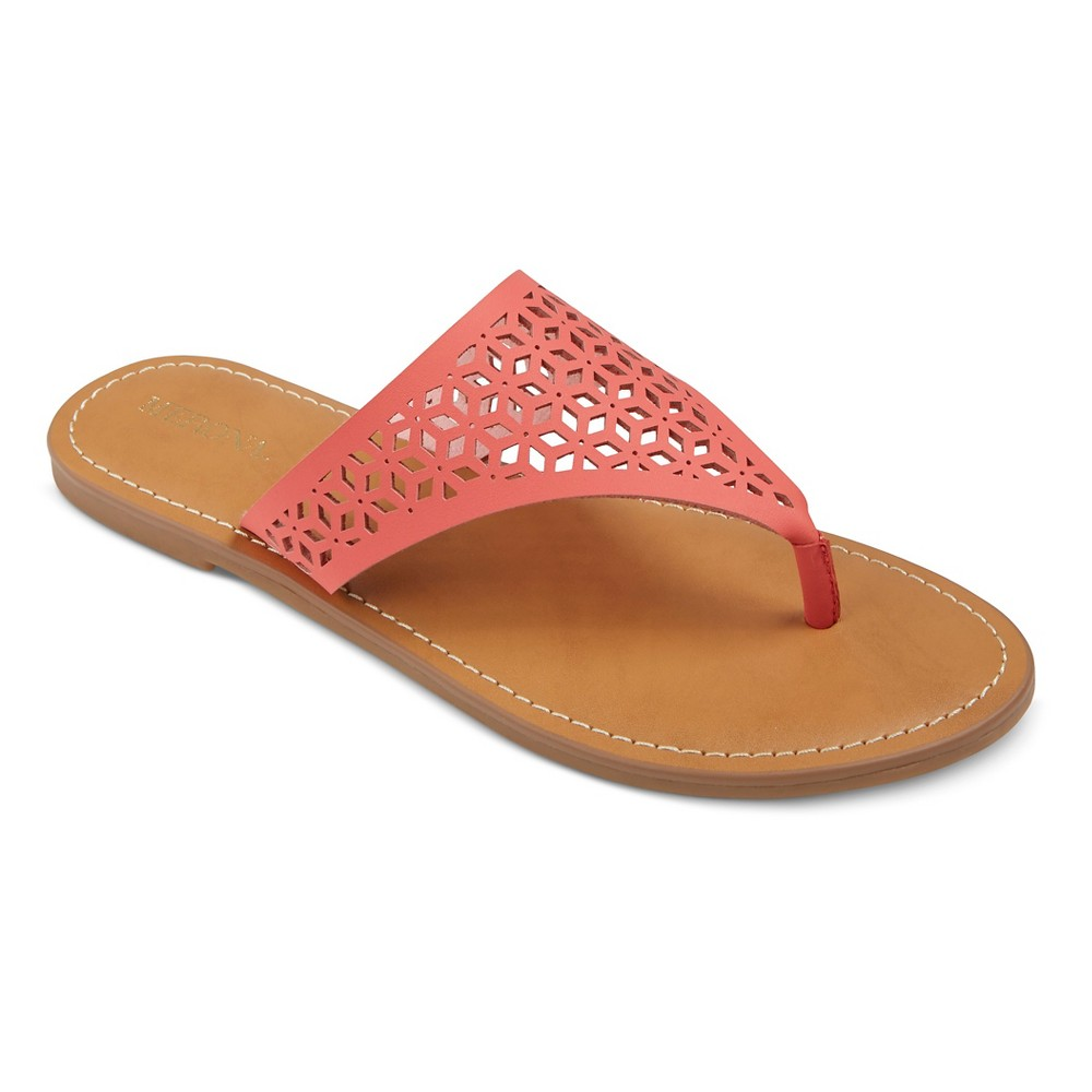 Womens Jaylyn Thong Sandals - Merona Coral (Pink) 7