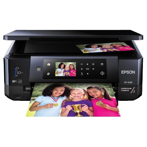 Epson Expression XP - 640 Inkjet Printer - Black (C11CF50201)