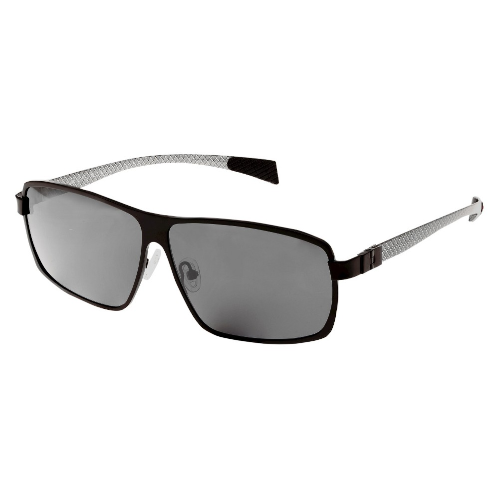 Breed Mens Finlay Polarized Sunglasses with Titanium Frame and Carbon Fiber Arms - Black/Black