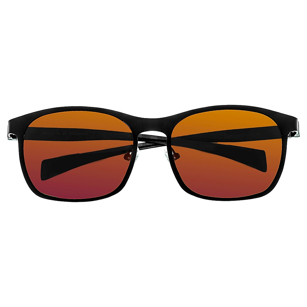Breed Mens Halley Polarized Sunglasses with Titanium Frame and Carbon Fiber Arms - Black/Yellow