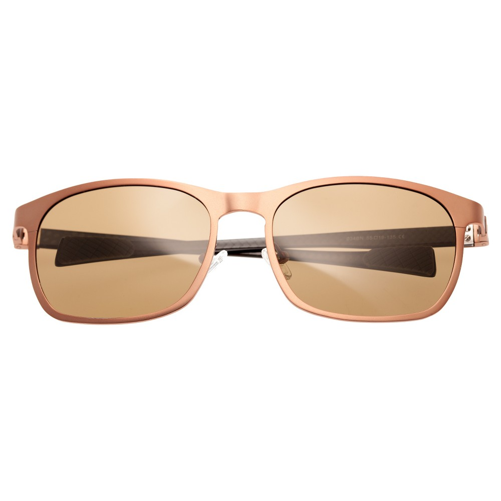 Breed Mens Halley Polarized Sunglasses with Titanium Frame and Carbon Fiber Arms - Brown/Brown