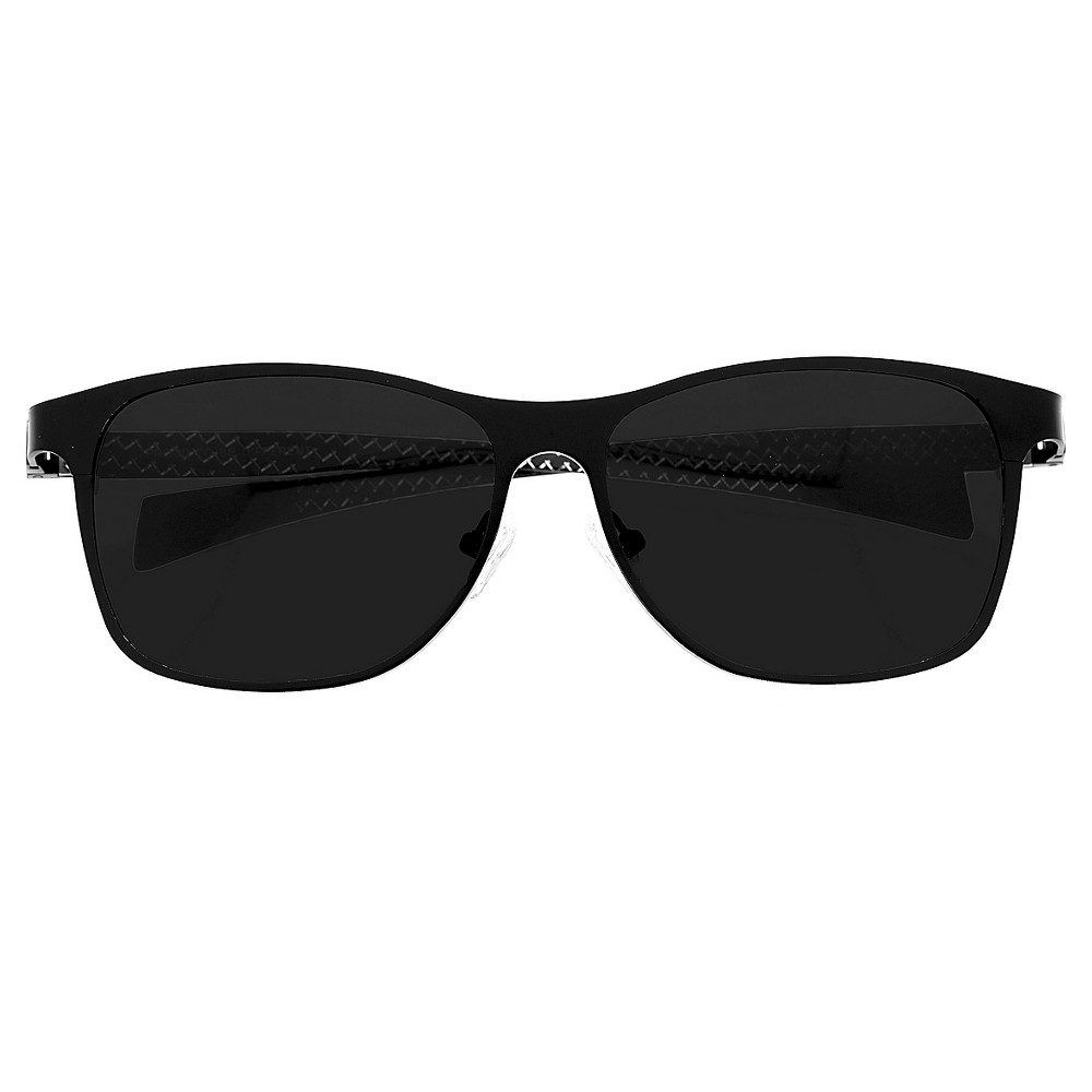 Breed Mens Templar Polarized Sunglasses with Titanium Frame and Carbon Fiber Arms - Black/Black