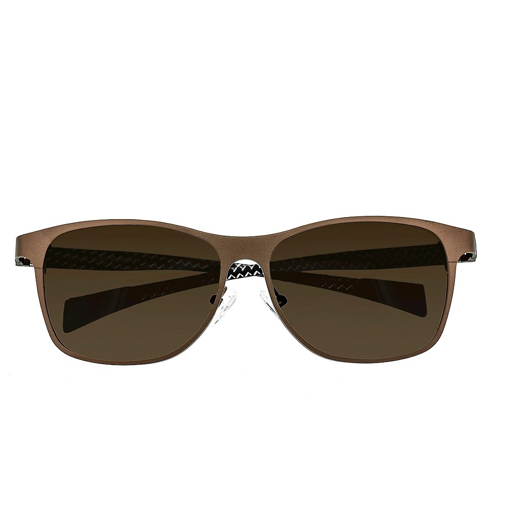 Breed Mens Templar Polarized Sunglasses with Titanium Frame and Carbon Fiber Arms - Brown/Brown