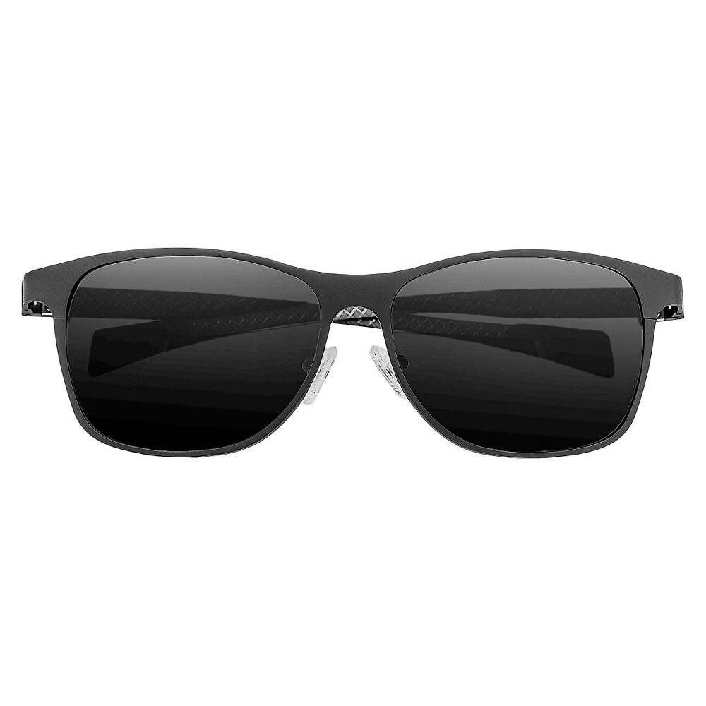 Breed Mens Templar Polarized Sunglasses with Titanium Frame and Carbon Fiber Arms - Gunmetal (Grey)/Black