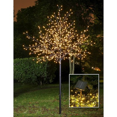 Lightshare 8u0027 600L LED City Tree, Indoor And Outdoor Use   Warm White Lights