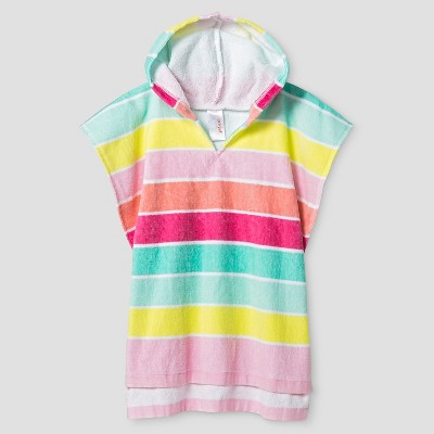 Baby Girls' Rainbow Stripe Hooded Towel Cover Up - Cat & Jack™ XS/S