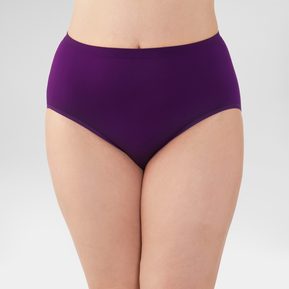Fit for Me by Fruit of the Loom Womens Seamless Briefs 4pk (Colors May Vary) - Size 9, Multicolored