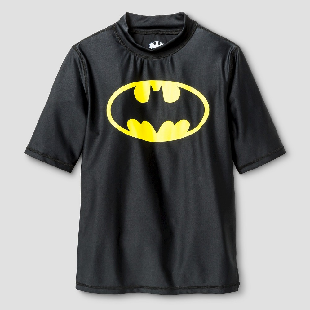 Batman Boys Rash Guards Black - L