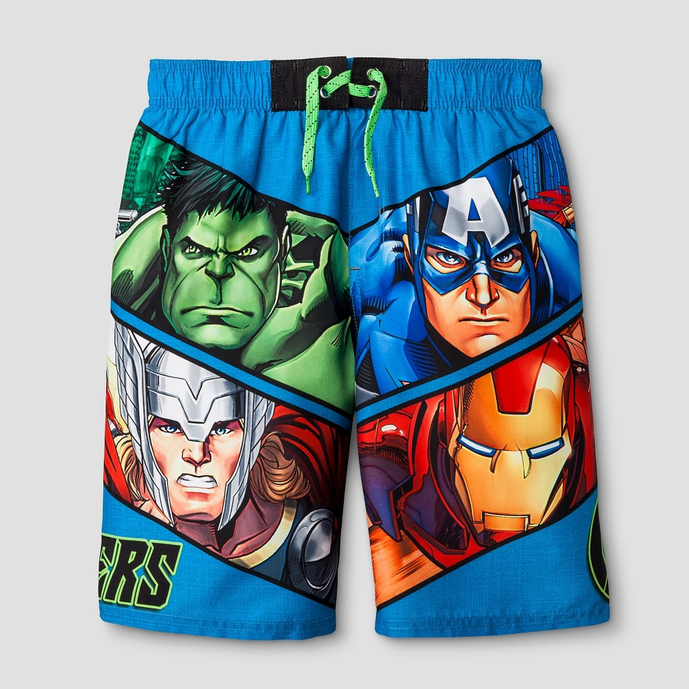 Boys Marvel Avengers Swim Trunks Blue - XS