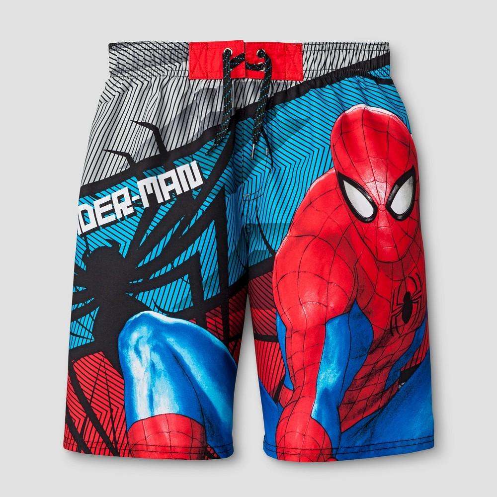 Spider-Man Boys' Swim Trunks Red - L