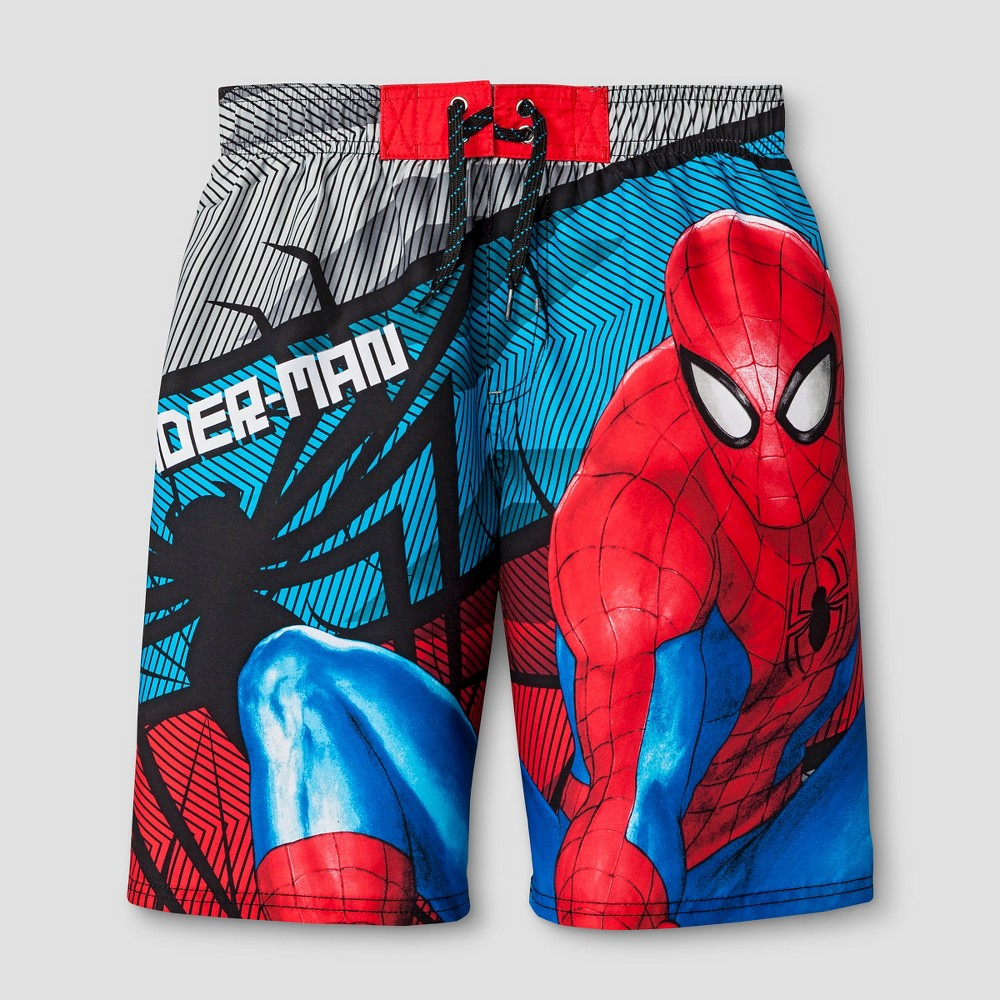 Spider-Man Boys Swim Trunks Red - L