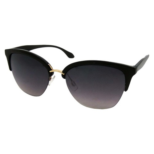 Women's Retro Sunglasses - Black