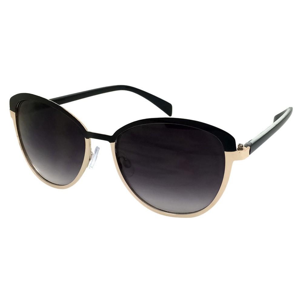 Womens Retro Sunglasses - Black