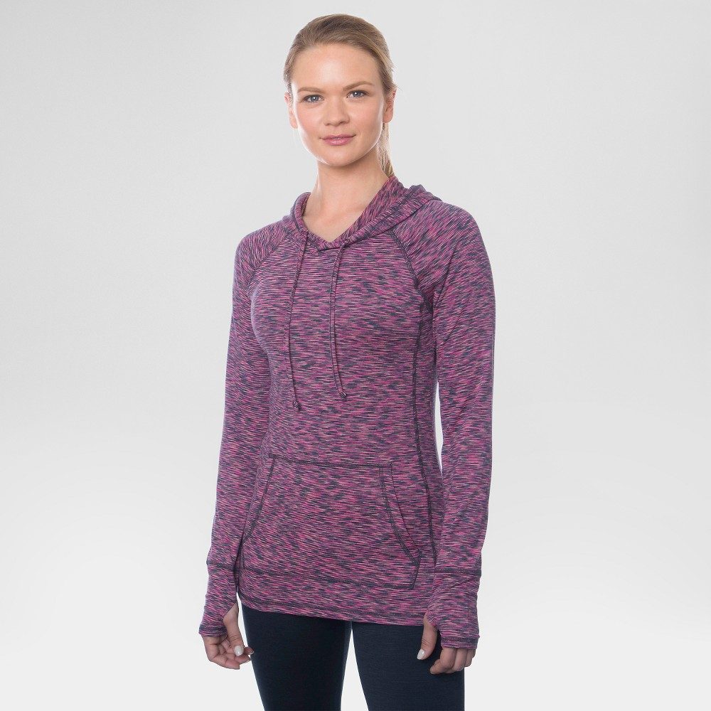Women's Long Sleeved Peached T-Shirt Bright Pink L - Rbx