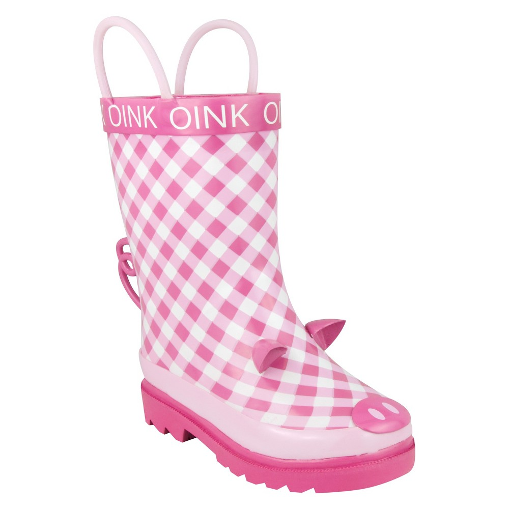 Kids Gardening Boots Pig - Small, Girl's, Size: Small (5-6), Pink