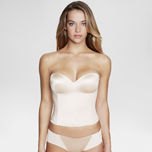 Dominique Hidden Underwire Longline Bridal Bra #8541 - Nude 32DD, Women