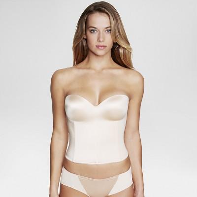 Dominique® Women's Hidden Underwire Longline Bridal Bra - Nude 38C