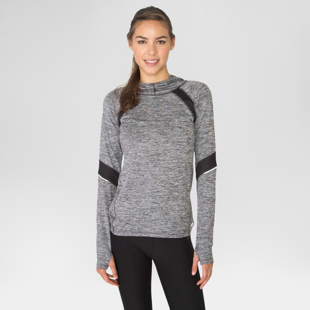 Women's Space Dyed Hoodie with Mesh Black S - Rbx