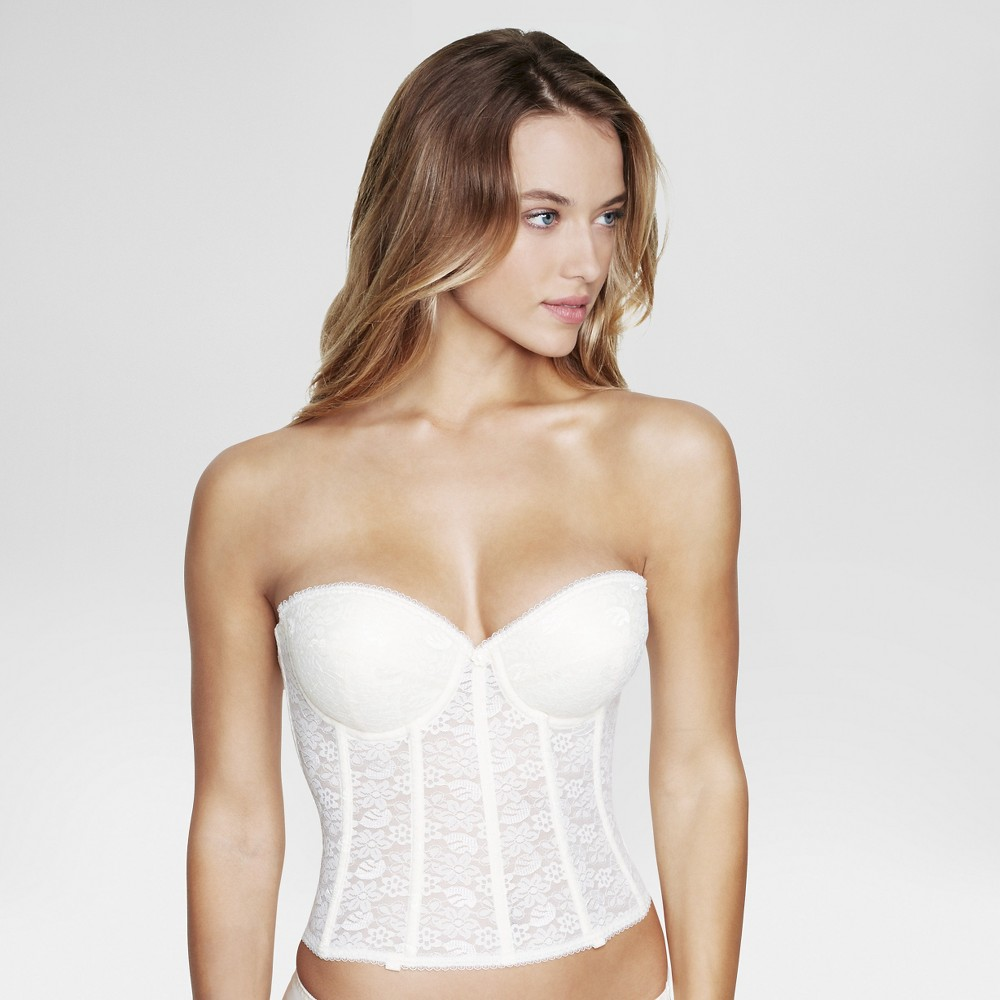 Dominique Push-Up Longline Bridal Bra #7759 - Ivory 38A, Womens
