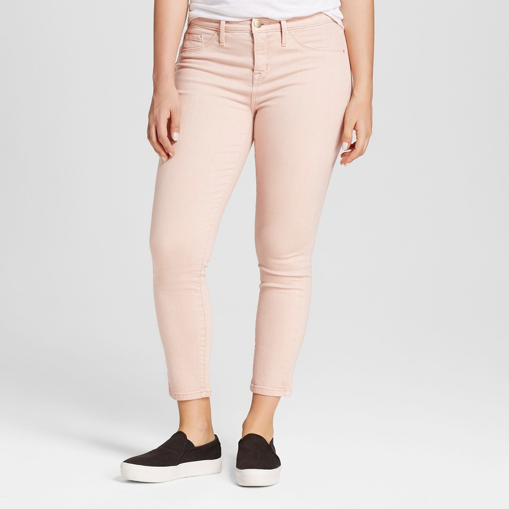 Womens Curvy Jegging Crop - Mossimo Pink 14R, Size: 14