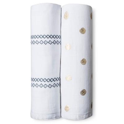 Muslin Blankets 2pk - Diamond Medallion - Nate Berkus™