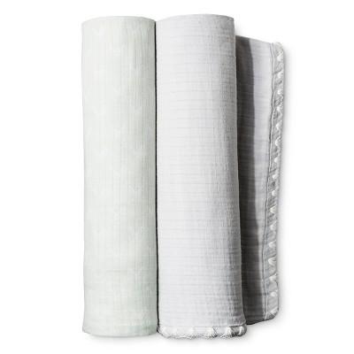 Muslin Blankets 2pk - Aqua Snowflake - Nate Berkus™
