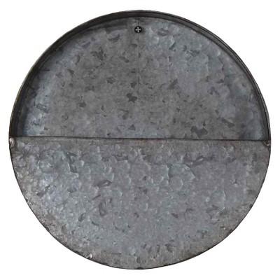 10  Round Galvanized Wall Planter, Gray - Threshold™