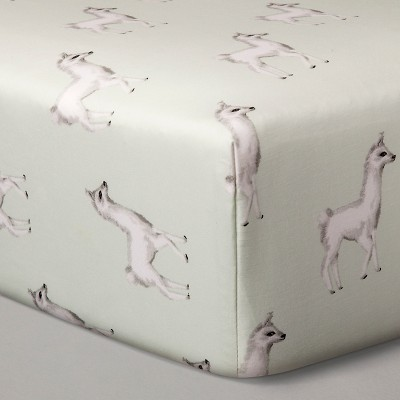 Crib Sheets - Mint Llama - Nate Berkus™
