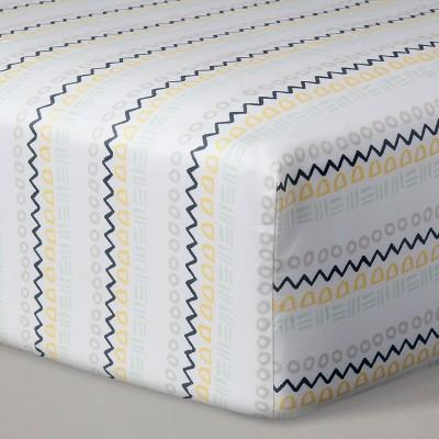 Crib Sheets - Geo Stripe - Nate Berkus™