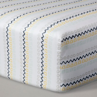 crib sheets geo stripe nate berkus - Crib Sheets