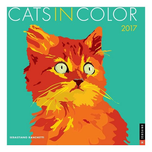 Cats in Color 2017 Calendar (Paperback) - image 1 of 2