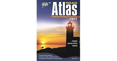 AAA 2017 Road Atlas Canada, United States, Mexico (Paperback) - image 1 of 1