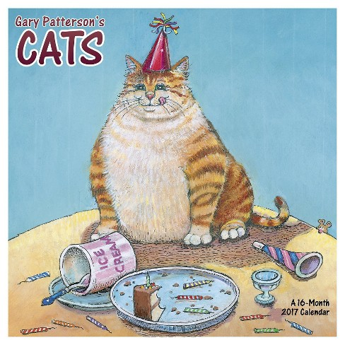 Gary Patterson's Cats 2017 Calendar (Paperback) - image 1 of 2