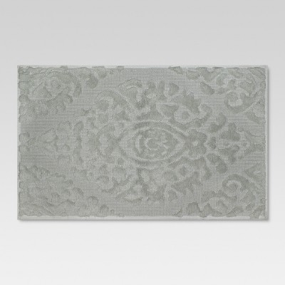 Ogee Embossed Bath Mat Khaki - Threshold™