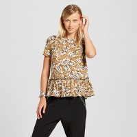 Women's Short Sleeve Peplum Printed Tee - Xhilaration (Juniors'). opens in a new tab.