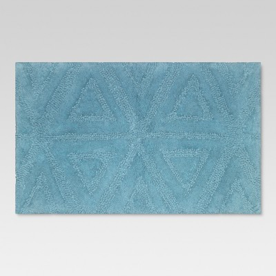 Triangles Solid Bath Rug Aqua - Threshold™