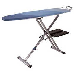 Household Essentials - Rhea Roll-Away Ironing Board - Silver/Blue