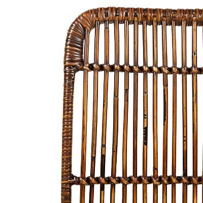 urban dweller hairpin rattan dining chair set of 2 brown jofran inc