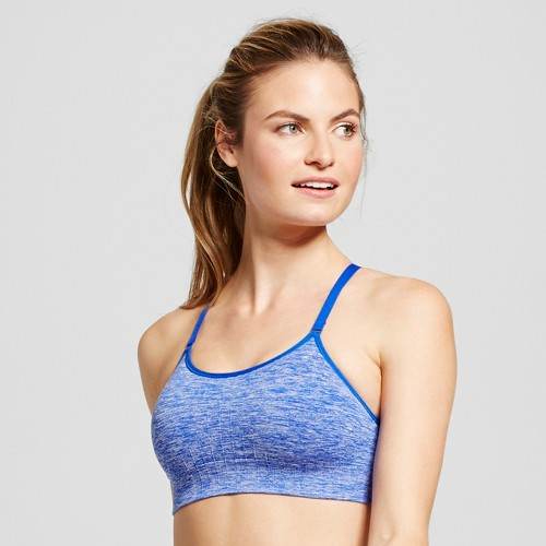 Women's Seamless Adjustable Cami Sports Bra - Flight Blue Heather S - C9 Champion