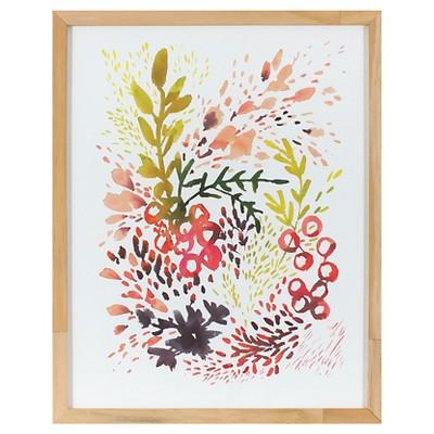 Kelly Ventura Framed Flourish Flowers Art (16 x20 )