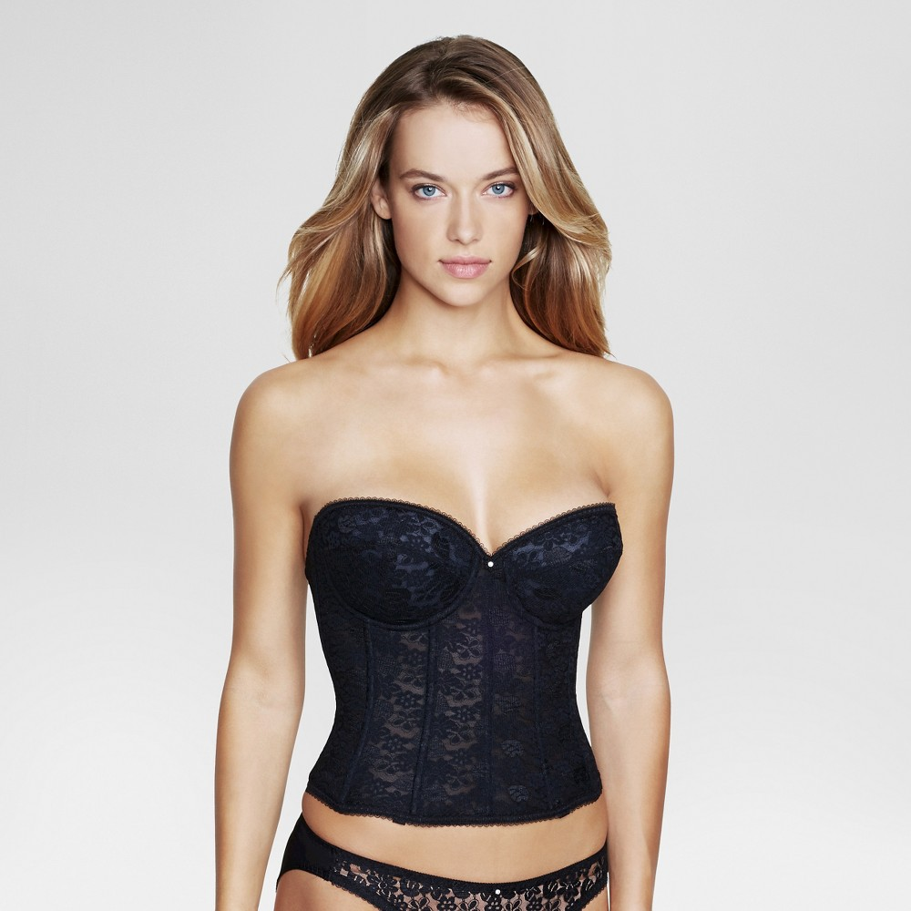 Dominique Lace Longline Bridal Bra #7749 - Black 40C, Womens