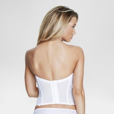 Dominique Lace Longline Bridal Bra #7749 - White 38C, Women's