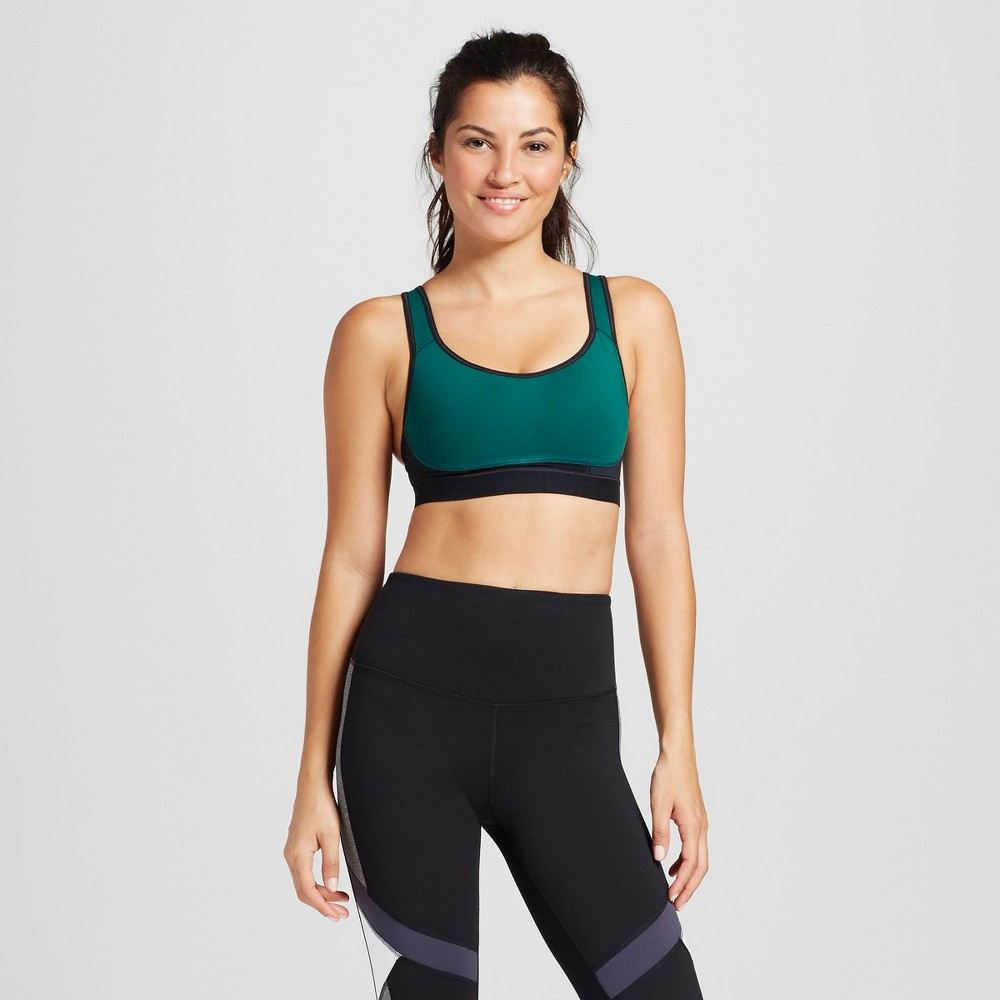 Womens Power Core Compression Max High Support Racerback Sports Bra - C9 Champion - Green S