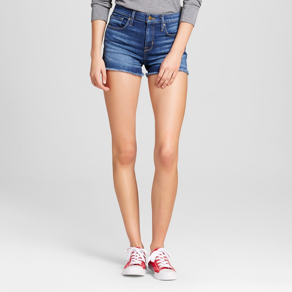 Womens Jean High-rise Shorts - Mossimo Dark Wash 00, Blue