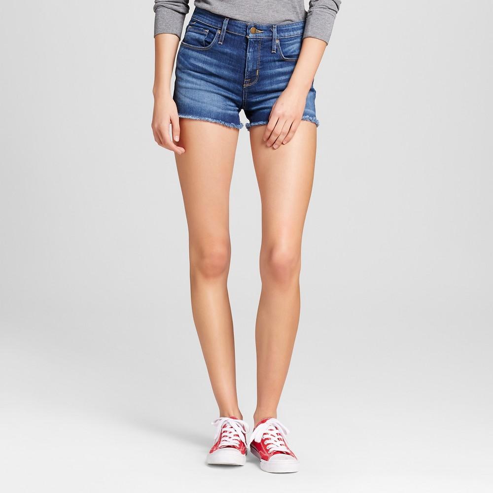 Womens Jean High-rise Shorts - Mossimo Dark Wash 16, Blue