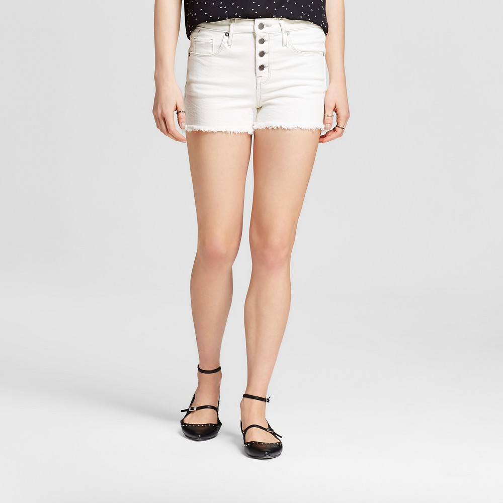 Womens Jean High-rise Shorts - Mossimo White 0