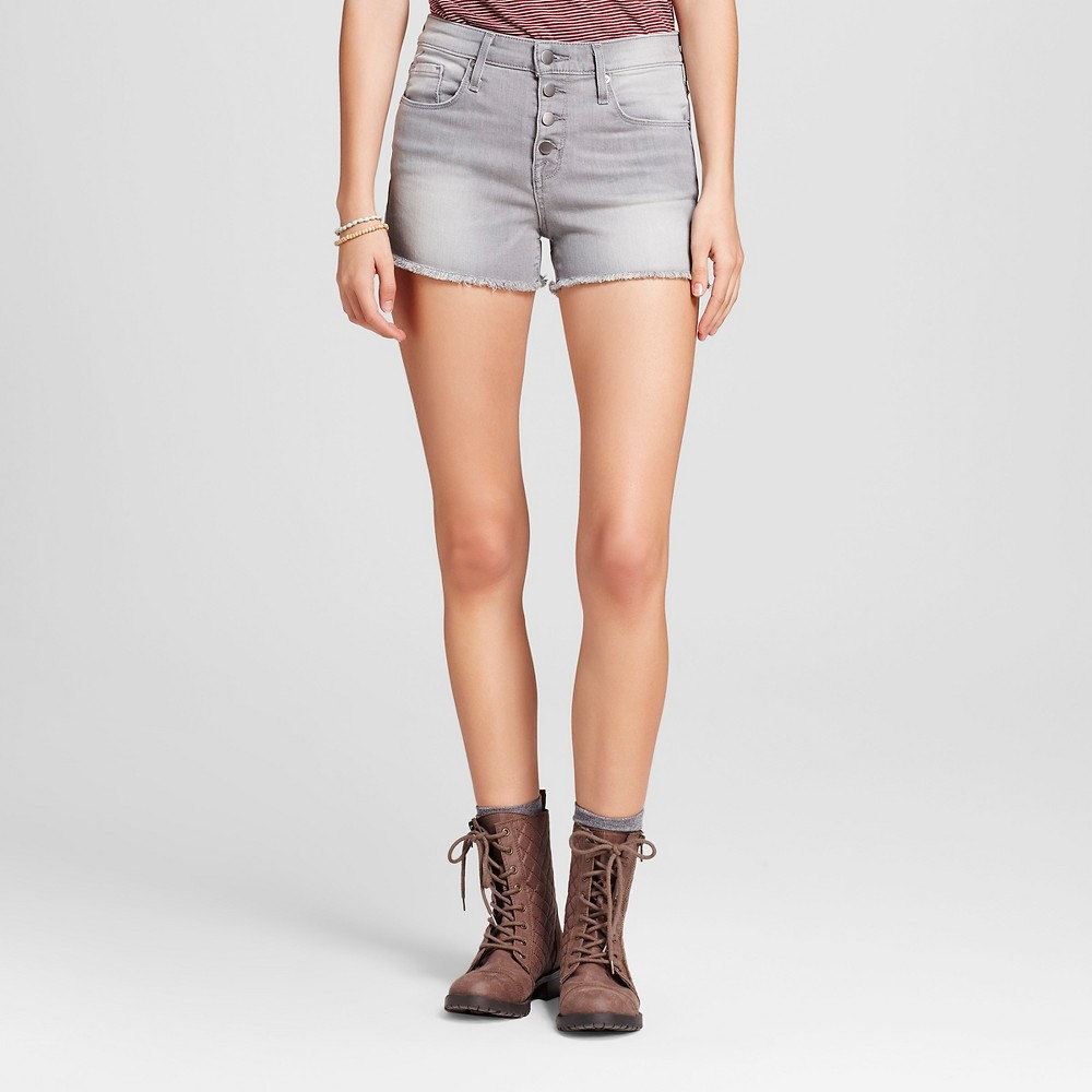 Womens Jean High-rise Shorts - Mossimo Gray 16